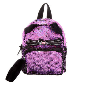 4ef480a00f67 Reversible Sequin Cat Mini Backpack