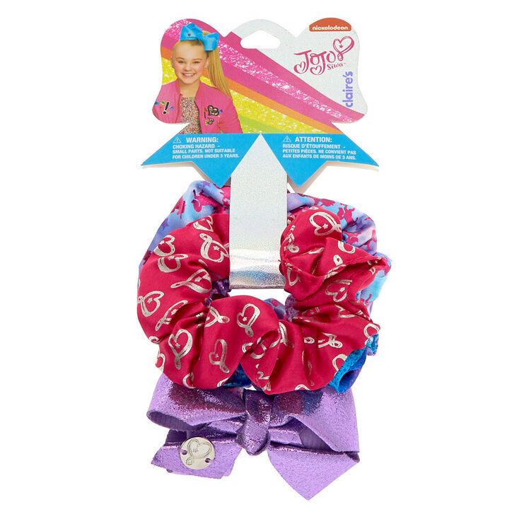 JoJo Siwa Unicorn Hearts Hair Scrunchies - 3 Pack,