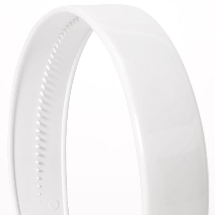 Solid Wide Headband - White,