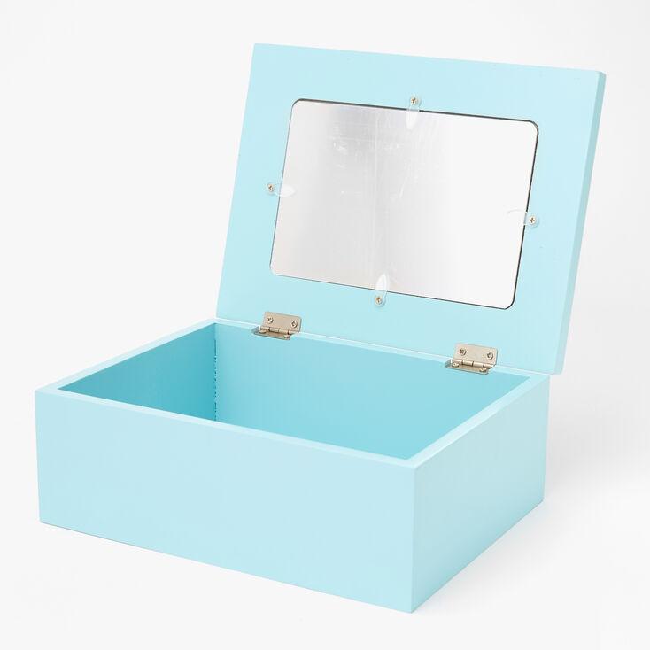 Rainbow Unicorn Trinket Keepsake Box - Light Blue,