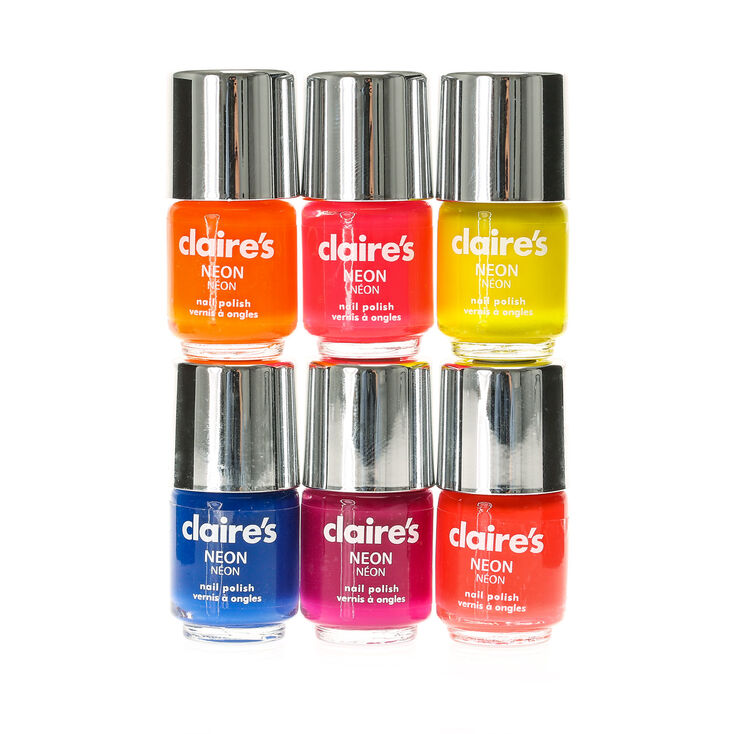 6 Pack Neon Nail Polish | Claire\'s