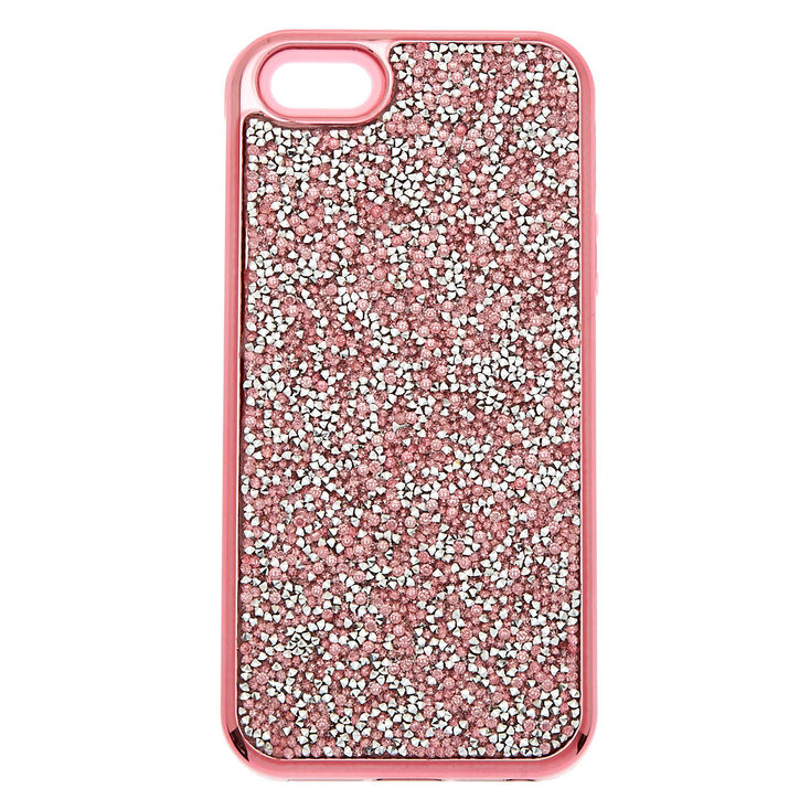 Pink Crushed Glitter Protective Phone Case - Fits iPhone 5/5S,