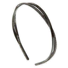 Glitter Black Figure 8 Headband,