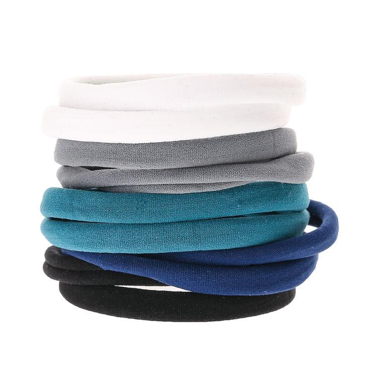 Claire's Élastiques à cheveux bleus neutres - Lot de 10