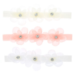 Claire's Club Flower Headwraps - 3 Pack,