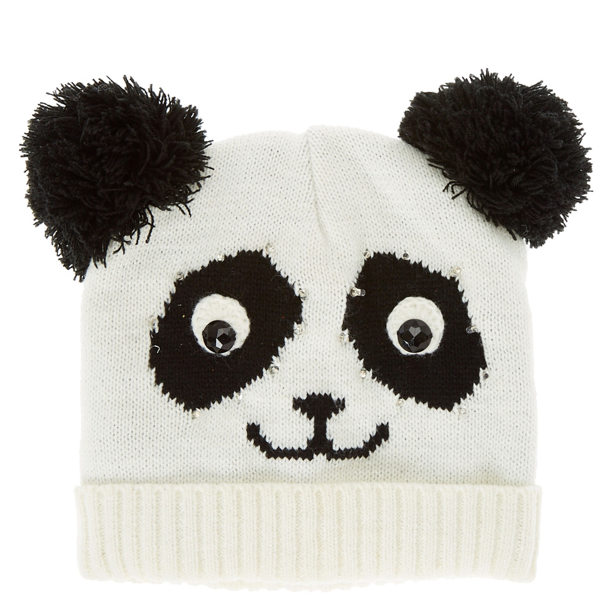 Panda Face Light Up Knit Hat  275557cb969