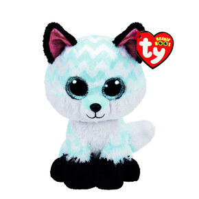 Ty Beanie Boo Small Piper the Chevron Fox Soft Toy,