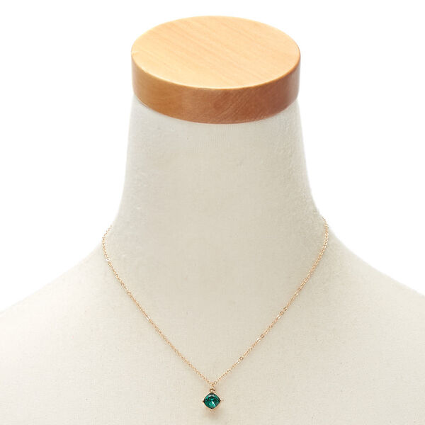 Claire's - may birth stone pendant necklace - 2