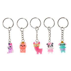 Best Friends Summer Animals Keychains - 5 Pack,