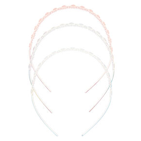 Claire's Club Heart Headbands - 3 Pack,