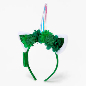 Light Up Irish Unicorn Headband - Green,