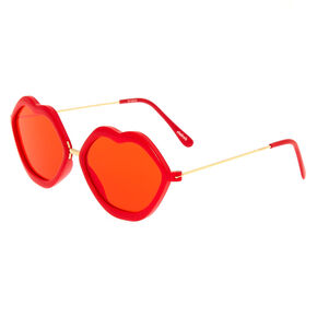Hot Lips Sunglasses - Red,