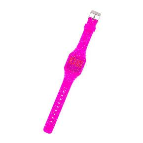 Glitter LED Watch - Pink,