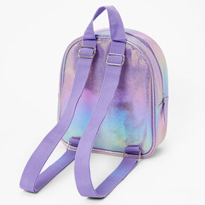 Claire's Club Iridescent Unicorn Mini Backpack - Lilac,