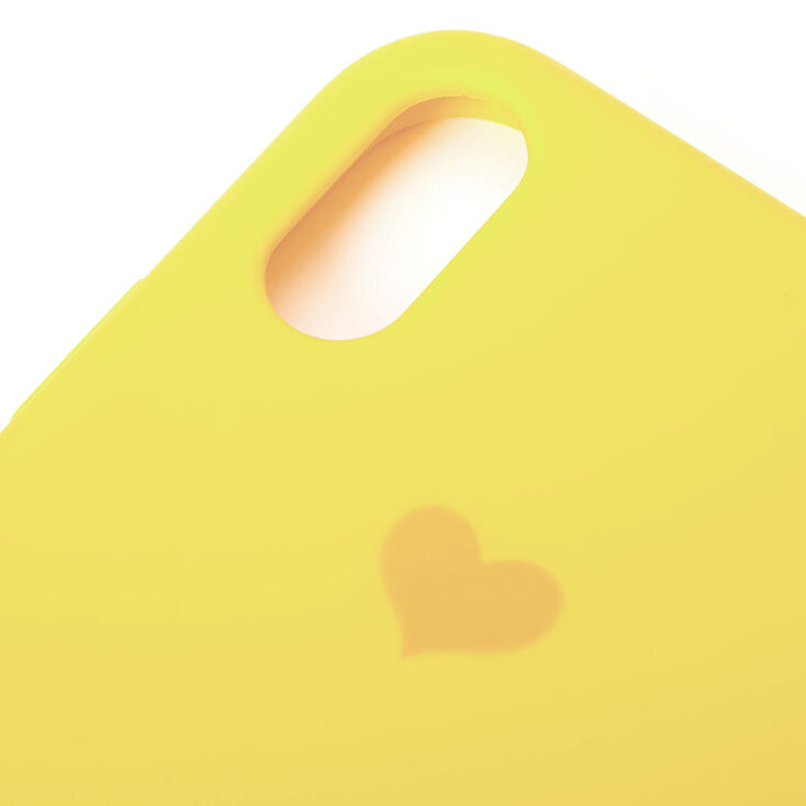 Yellow Heart Phone Case - Fits iPhone XR,