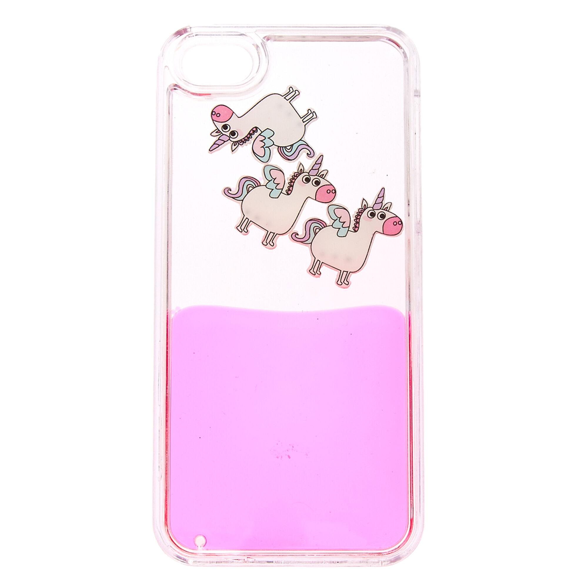 Unicorn Liquid Filled Phone Case  Claire's US