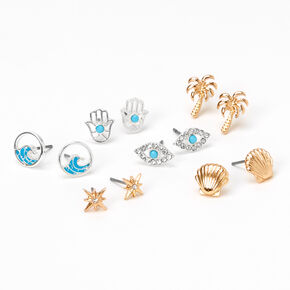 Sky Brown™ Mystic Stud Earrings - 6 Pack,