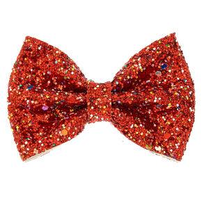 9368e7dbb Cake Glitter Hair Bow Clip - Red