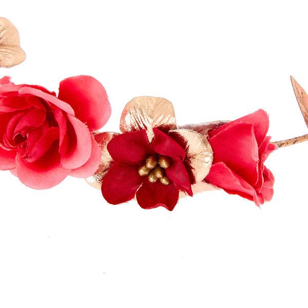 Claire's - rose flower crown tie headwrap - 2