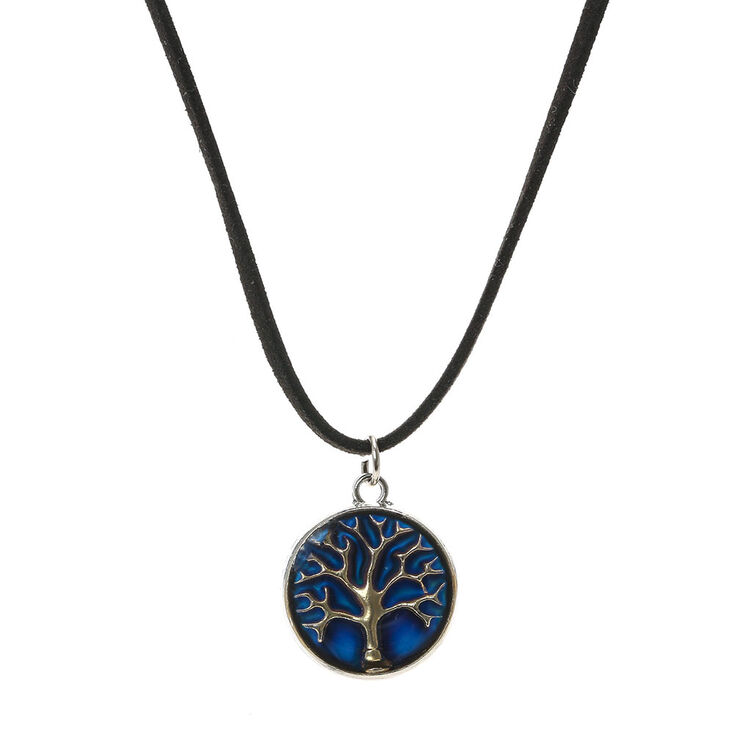 Mood stone tree pendant cord necklace claires mood stone tree pendant cord necklace aloadofball Images