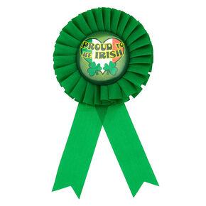 Proud To Be Irish Ribbon Button - Green,