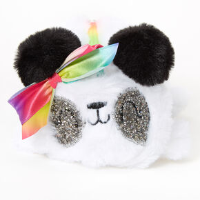 Paige the Panda Plush Pencil Case - White,