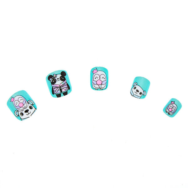 Claire's - winter cuddle club press on faux nail set - 1