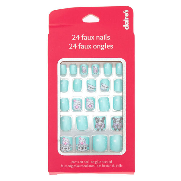 Claire's - winter cuddle club press on faux nail set - 2