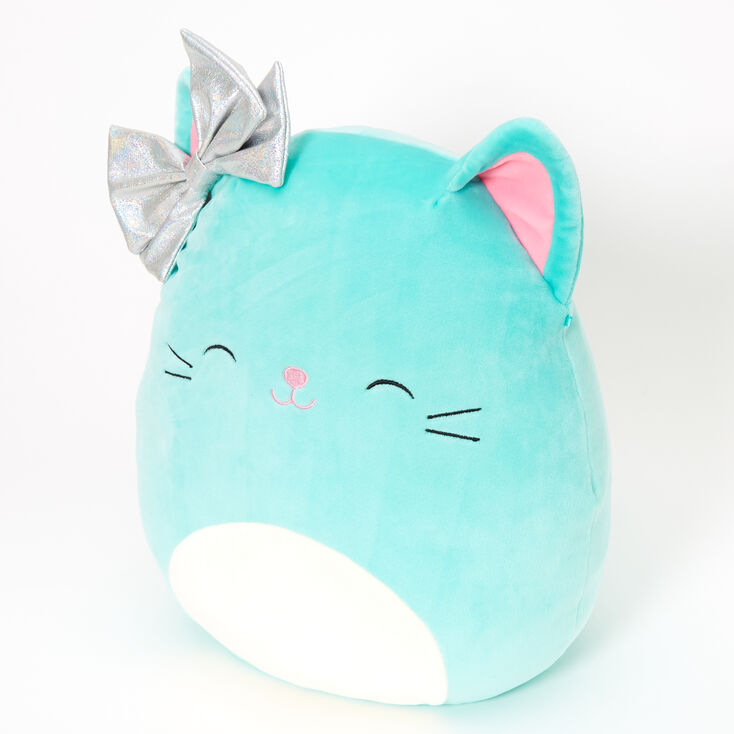 "Squishmallows™ 12"" Claire's Cat Soft Toy - Mint,"