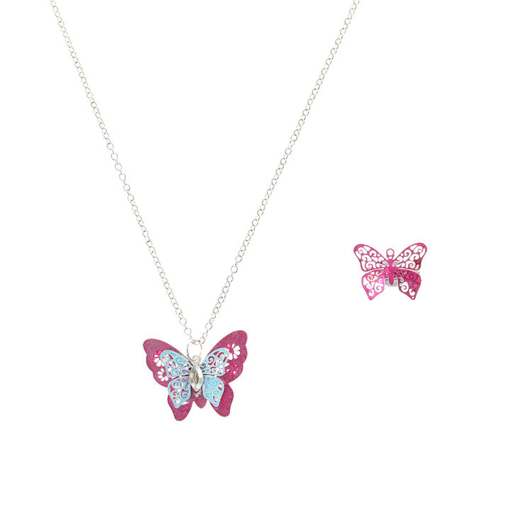 Claire S Club Butterfly Jewellery Set 2 Pack Claire S