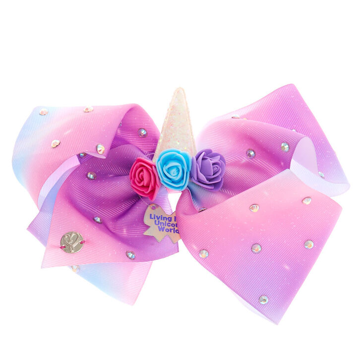 JoJo Siwa™ Large Living in a Unicorn World Hair Bow – Purple,