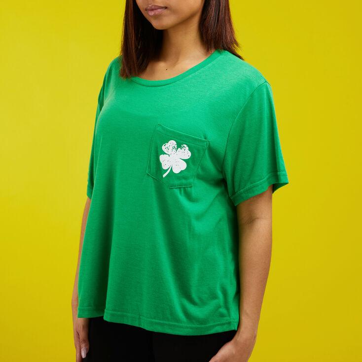 T-shirt trèfle pour la Saint-Patrick - Vert,