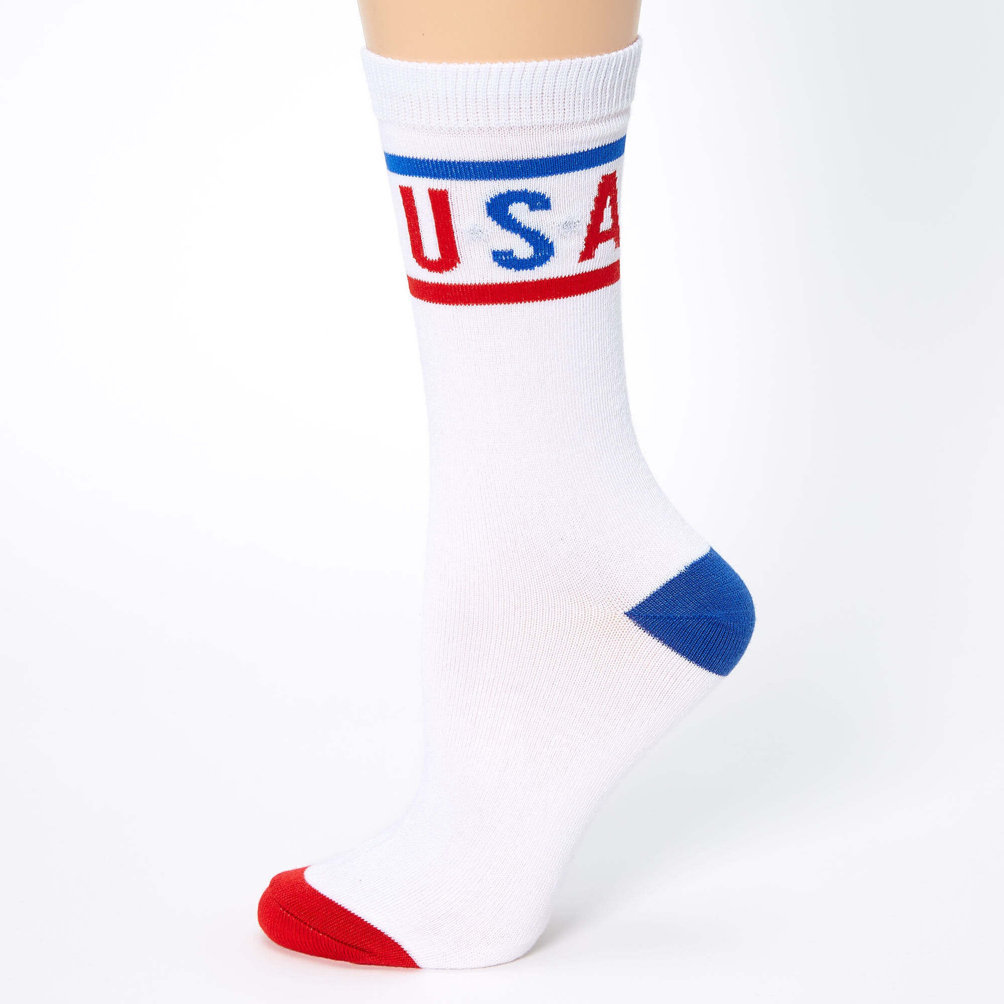Flag Of France Printed Crew Socks Warm Over Boots Stocking Stylish Warm Sports Socks