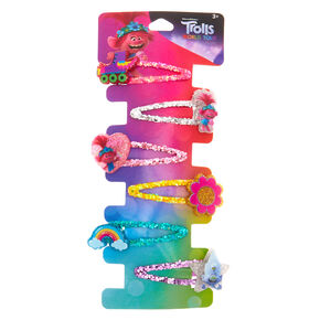 Trolls World Tour Glitter Snap Clips – 6 Pack,