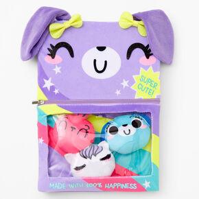 Puppy Candy Plush Sketchbook - Purple,