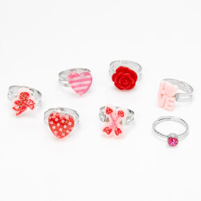 Lot de bagues Saint-Valentin - Lot de 7,