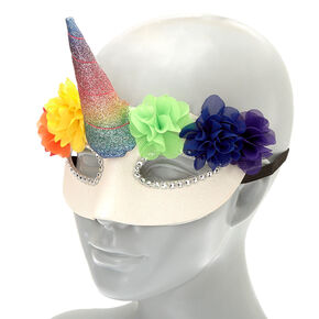 Floral Rainbow Unicorn Mask,