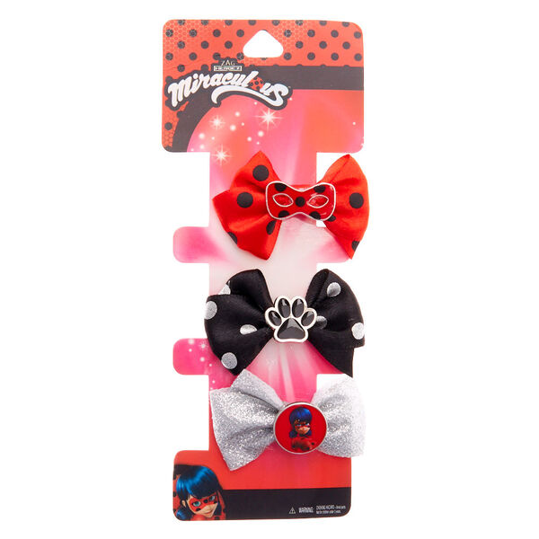 Claire's - miraculous™ bow charm hair clips - 1