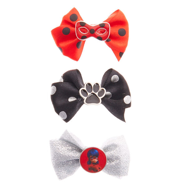 Claire's - miraculous™ bow charm hair clips - 2
