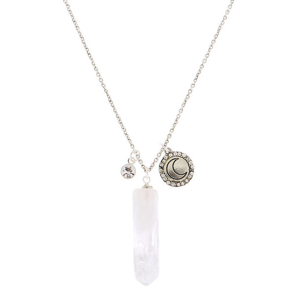 Claire's - healing stone long pendant necklace - 1