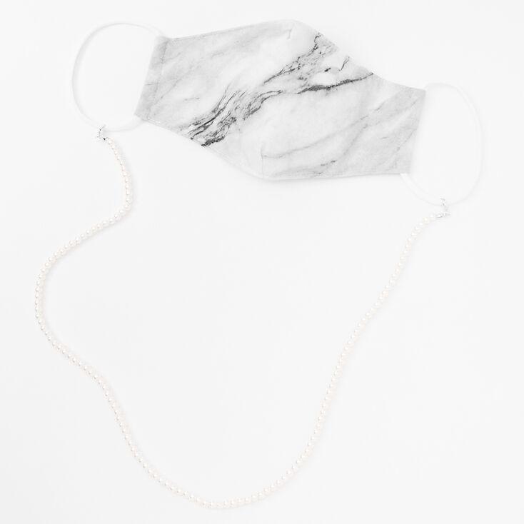Silver Pearl Face Mask Chain Lanyard,
