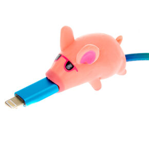 MojiPower® Mr. Piggy Cable Protector - Pink,