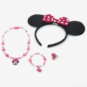 ©Disney Minnie Mouse Ears & Jewellery Set - 4 Pack,