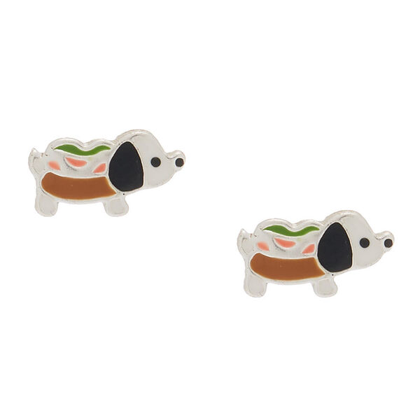 Claire's - sterling hot dog stud earrings - 1