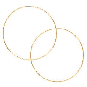 Créoles fil couleur doré 60mm,
