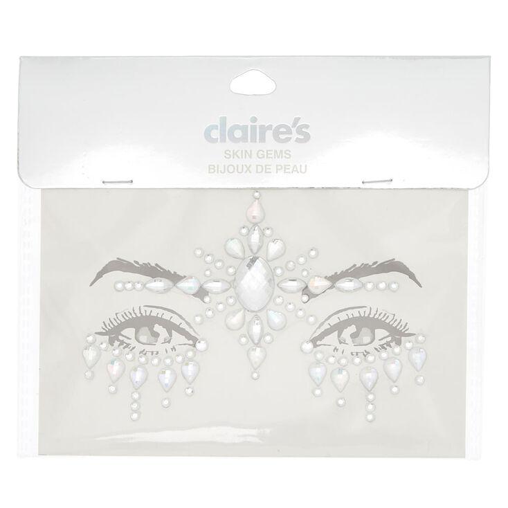 Iridescent Forehead Skin Gems - Silver,