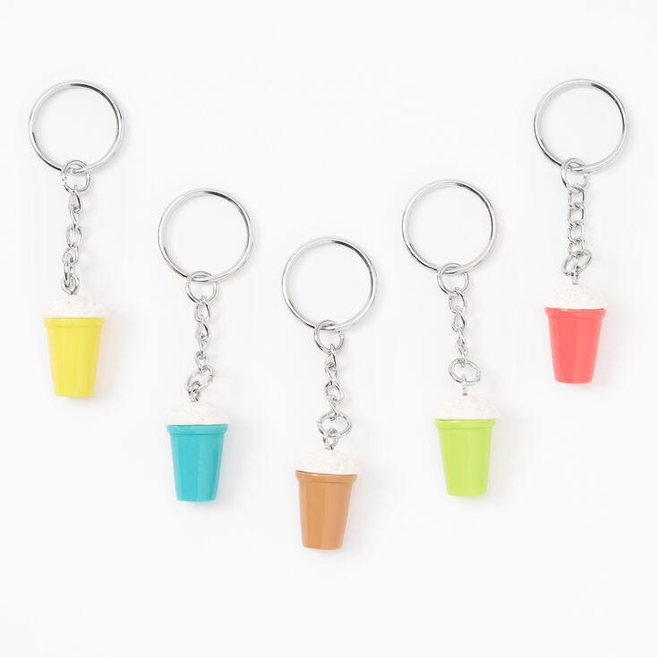 Best Friends Rainbow Milkshake Keychains - 5 Pack,
