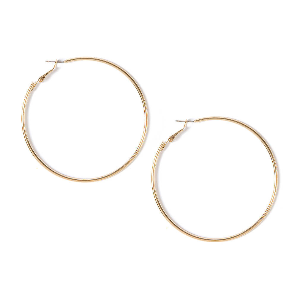 70MM Thin Gold Hoop Earrings Claires US
