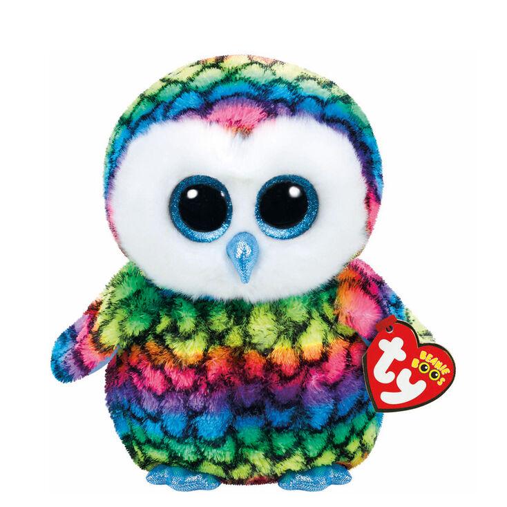 Ty Beanie Boo Medium Aria the Rainbow Owl Soft Toy  4d5fad56a1f