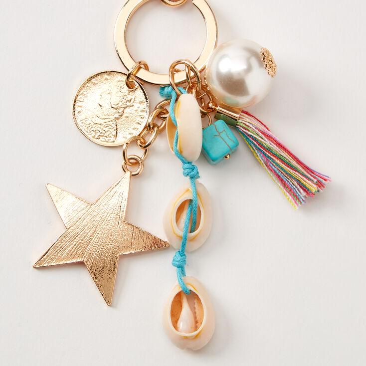 Seashell Star Keychain - Turquoise,